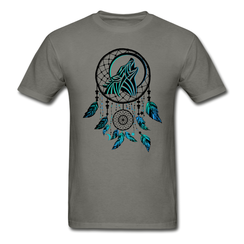 Howling Wolf Dream Catcher — Gildan Ultra Cotton Mens T-Shirt - What Teens Need