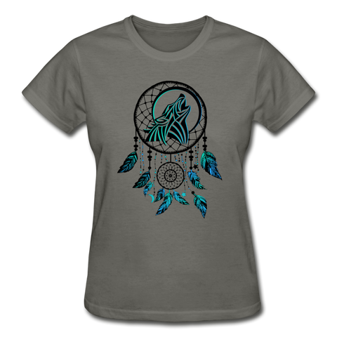 Howling Wolf Dream Catcher — Gildan Ultra Cotton Ladies T-Shirt - What Teens Need