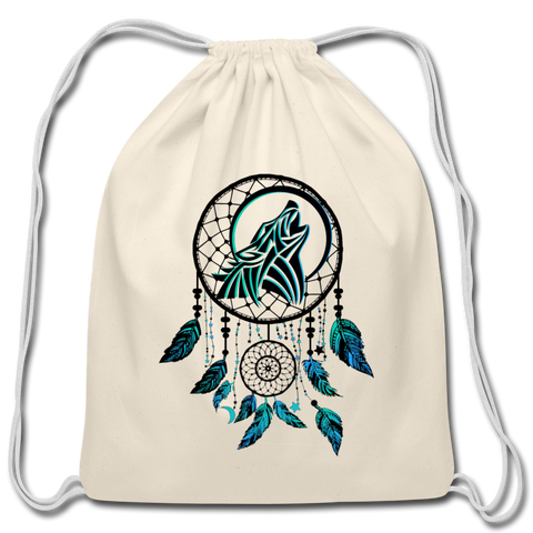 Howling Wolf Dream Catcher — Cotton Drawstring Bag - What Teens Need