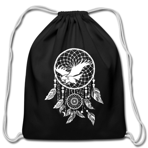 Attacking Eagle Dream Catcher — Cotton Drawstring Bag - What Teens Need