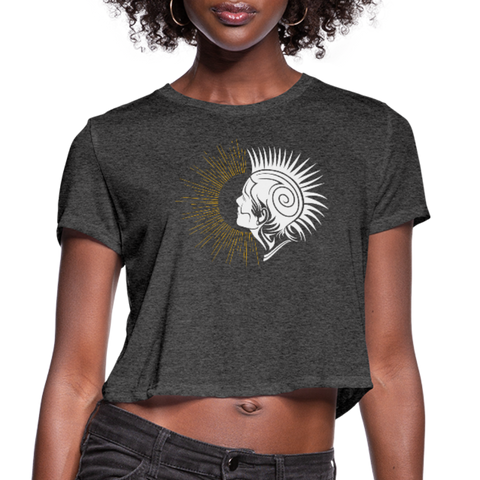 Punk Rock Sunrise — Women's Cropped T-Shirt - What Teens Need