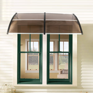 "80""x 40"" Outdoor Front Door Window Awning Patio Canopy Rain Cover UV Protected Eaves"