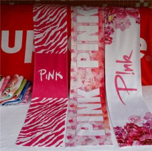 Pink Letters Sports Beach Towel 20*110cm Love Pink