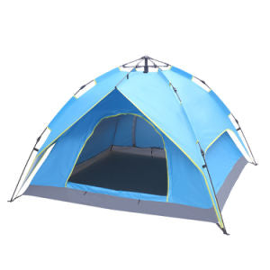 Double-Deck Tow-Door Hydraulic Automatic Tent Build Outdoor Tent Blue