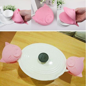 1Pc Cute Pig Heat Resistant Silicone Anti-Slip Oven Glove Mitt