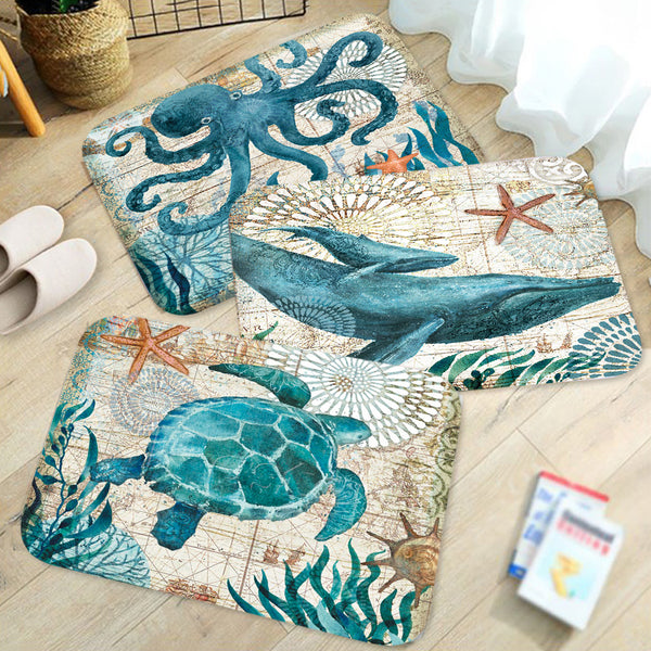 Marine Style Door Mat - Fleece Rug/Anti-Slip