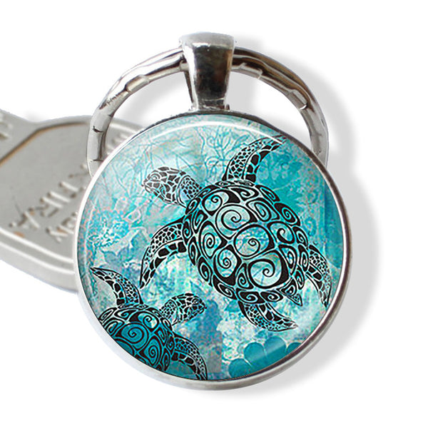 Marine Life Jewelry Key Ring Glass ball