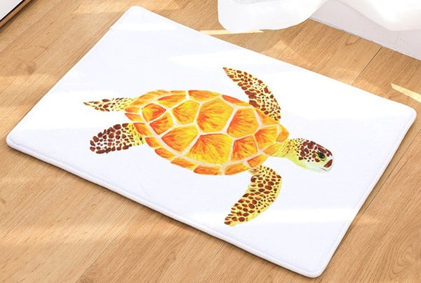 CAMMITEVER Sea Turtle Floor Mat