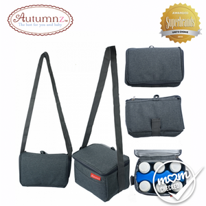 Autumnz Fun Foldaway Cooler Bag Cool Grey