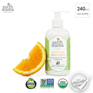 Earth Mama Sweet Orange Organic Baby Lotion, 240ml