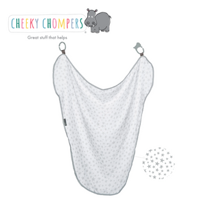 Cheeky Chompers MultiMuslin Silver Stars
