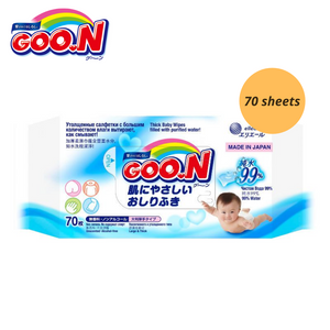 Goo.N Baby Wipes Large & Thick 70 sheet [Bundle of 6]