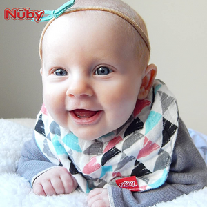 Nuby Muslin Bandana Bibs w/ Teether