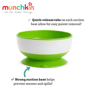 Munchkin Stay Put Suction Bowls (Pack of 3)