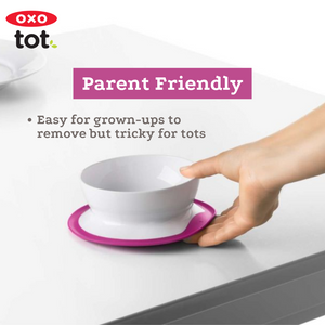 OXO TOT Stick & Stay Suction Bowl - Pink