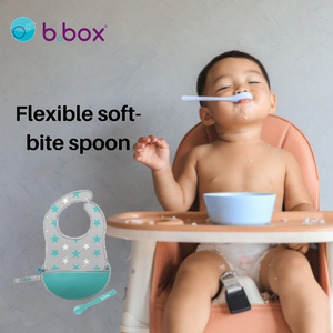 B.Box Travel Bib + Silicone Spoon - Star Burst