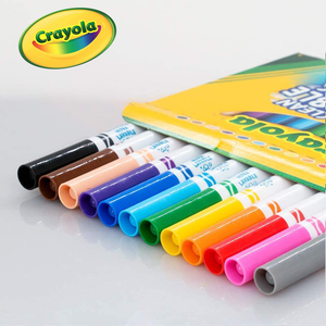 Crayola Ultra-Clean Assorted 12-Count Fine Line Washable Markers