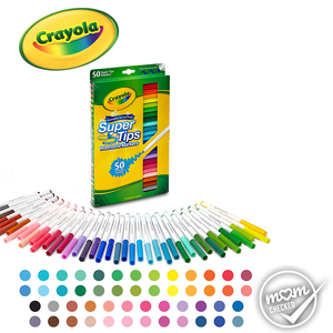 Crayola Washable Super Tips Markers, 50 Count