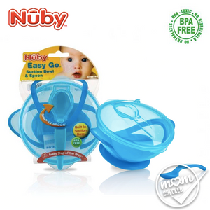 Nuby Suction Bowl w/ Spoon & Lid