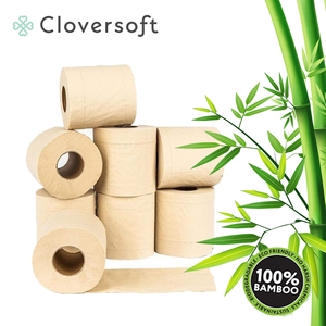 Cloversoft Unbleached Bamboo Toilet Tissues 3 Ply, 10 Rolls, Bundle Of 2