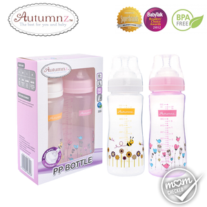 Autumnz PP Wide Neck Feeding Bottle 10oz/300ml (Twin Pack)