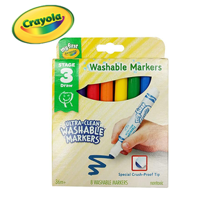 Crayola My First Ultra-Clean Washable Markers (Bold Colors With Rounded Broad Tips)