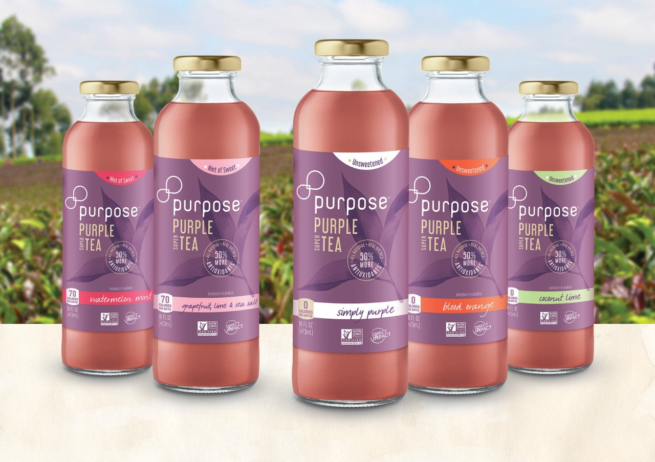 PURPOSE PURPLE SUPER TEA ANNOUNCES UNSWEETENED LINE & NEW COO AT EXPO WEST