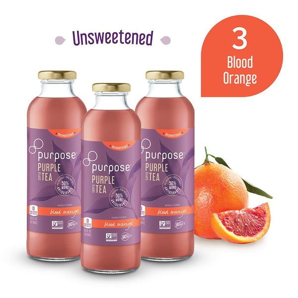 Unsweetened Blood Orange Purple Tea, 16 oz (3 Pack)