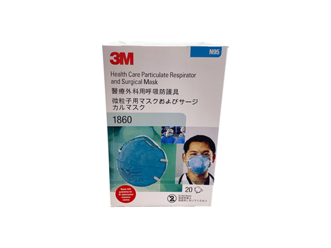 3M 1860 Health Care Particulate Respirator and Surgical Mask
