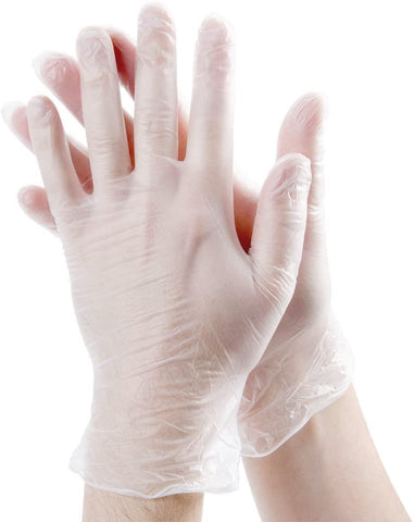 Stellar - Clear Vinyl Disposable Gloves Box of 100PCs