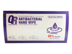 "QR Health and Wellness 80% Alcohol Base Disinfectant Wipes Individually Wrapped 15cm x 12cm / 6"" x 4.7"" (Box of 200PCs)"