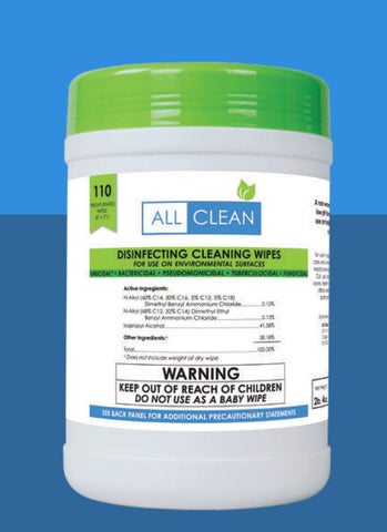 All Clean Disinfecting Wipes Effective Against Novel Coronavirus (COVID-19) - 110 Qty