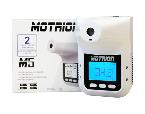 Motrion - M5 Professional Wall-Mounted Infrared Thermometers with HD LCD Display, Prompt Alarm, and Data Record (plus 2 years Warranty)