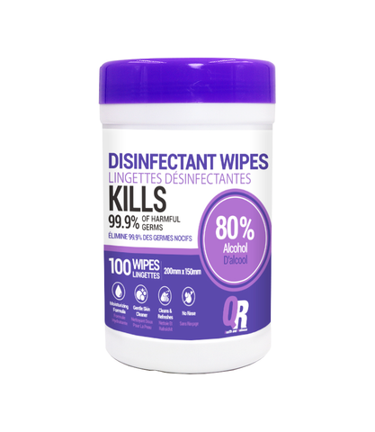 QR Health and Wellness 80% Alcohol base Disinfectant Wipes