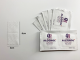 "QR Health and Wellness 80% Alcohol Base Disinfectant Wipes Individually Wrapped 3cm x 6cm / 1""x 2"" (Box of 400PCs)"