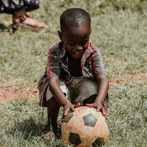 soccer ball gift to a child