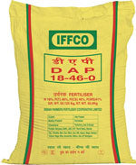 IFFCO DAP DAP-N-18% and P2O5 -46%.