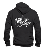 Hooded Zip-Jacke: 1-2-Slap - Logo One Color