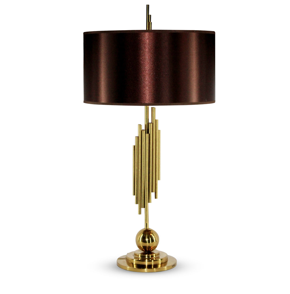 Ankur Organ Contemporary Table Lamp. Gold Finish.