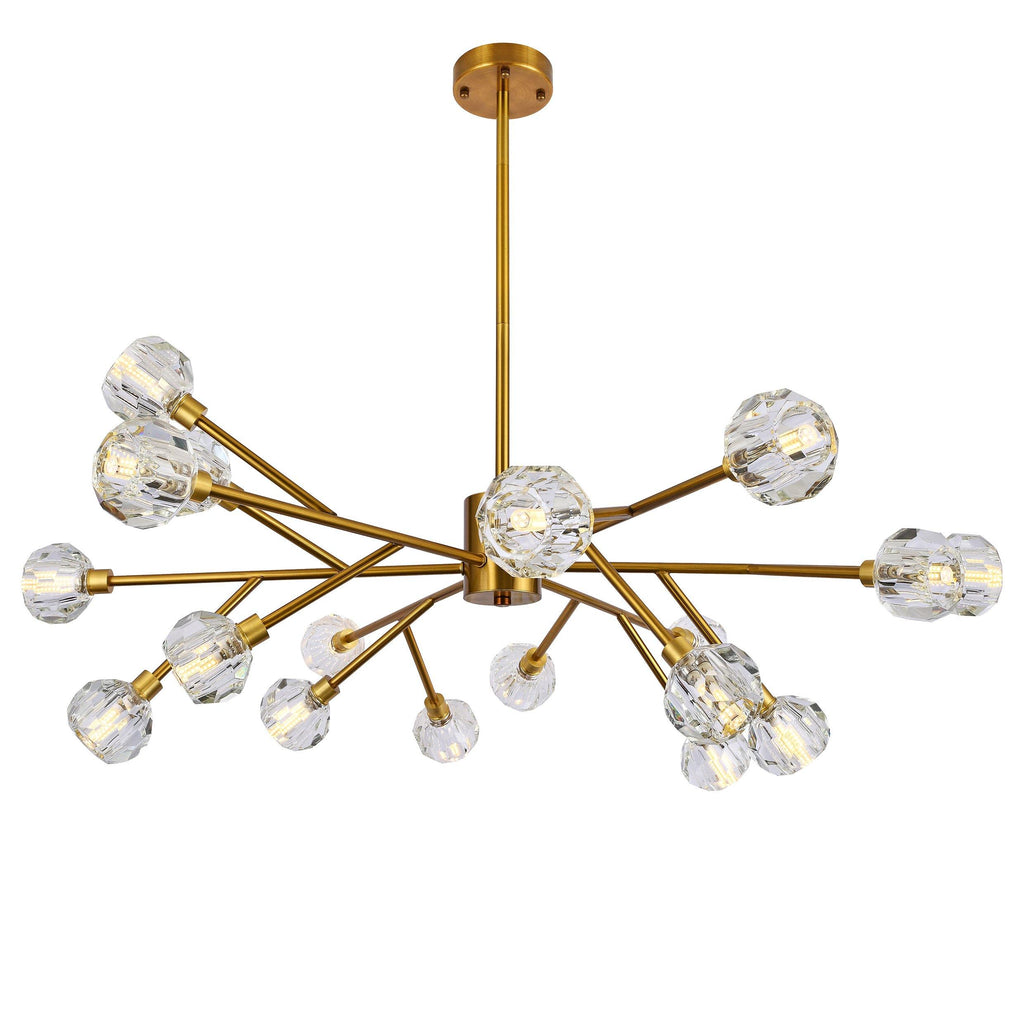 Ankur 18 Light Crown Diamond Crystal Chandelier