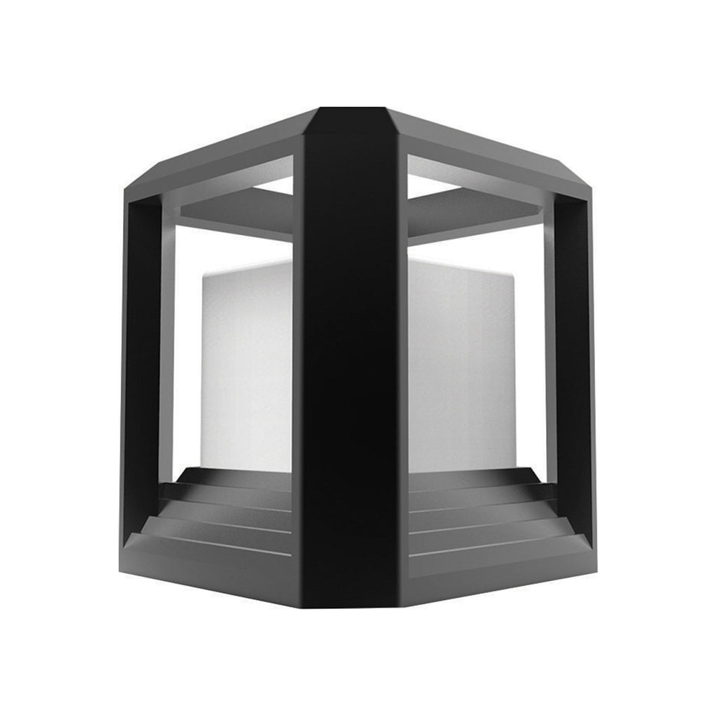 Ankur Metal Square Diecast Outdoor Gate Post Light - Ankur Lighting