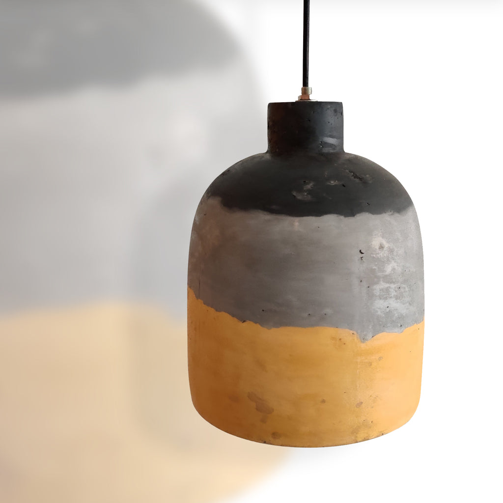 Ankur Painted Cylindrical Concrete Hanging