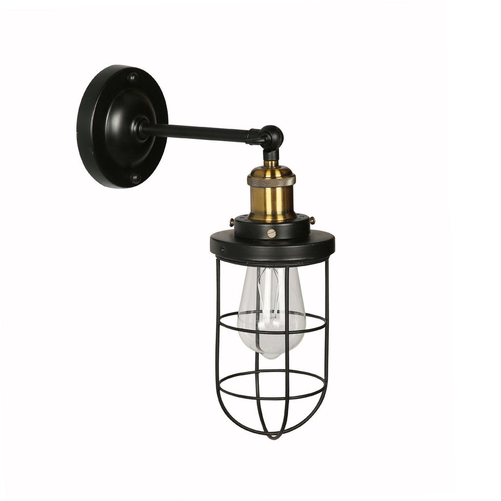 Ankur Vintage Wire Cage Wall Light - Ankur Lighting