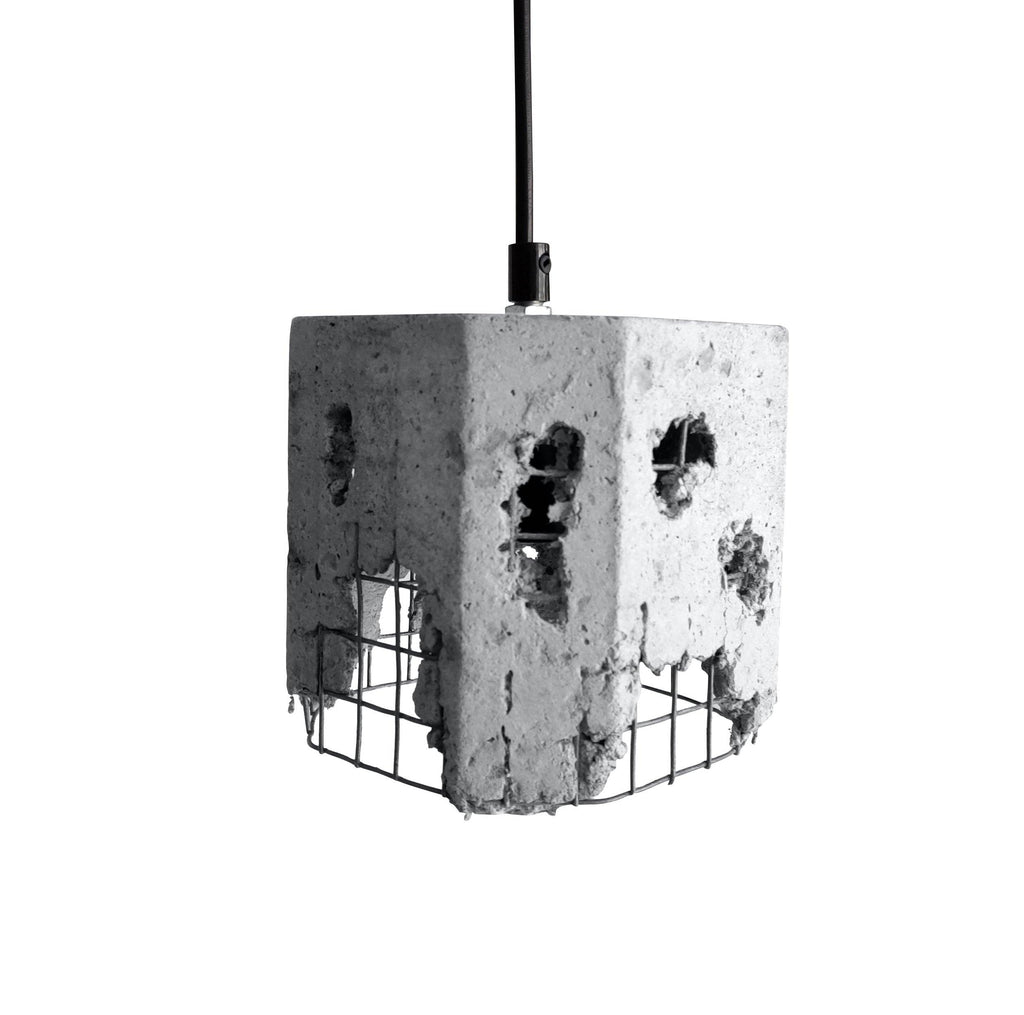 Ankur Metal Mesh Cube Concrete Hanging - Ankur Lighting