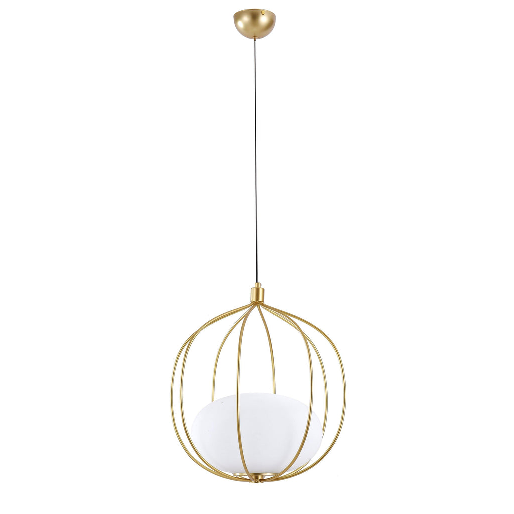 Ankur Osaka Gold Metal Cage Hanging Light - Ankur Lighting