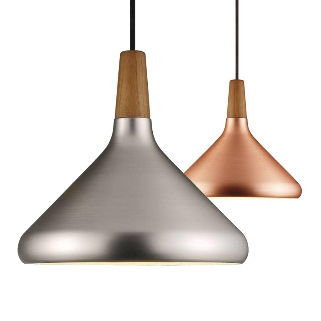 Ankur Nordic Cone Regolare Brushed Finish Metal Hanging Light