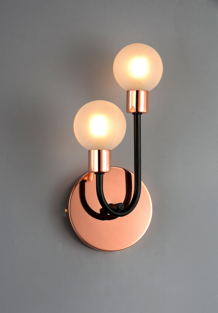 Ankur 2 Light U-Shaped Rose Gold / Copper Plated Wall Sconce