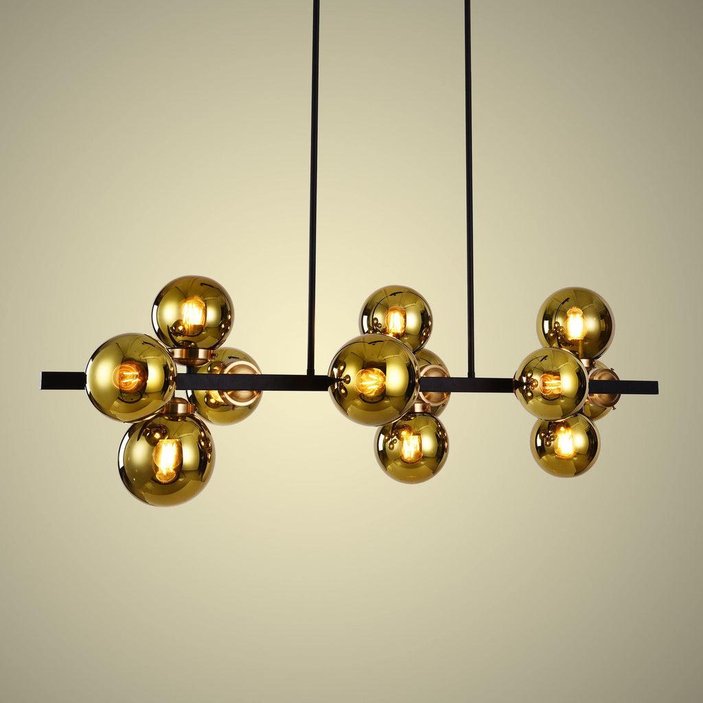 Ankur 12 Light Linear Globe Chandelier - Ankur Lighting