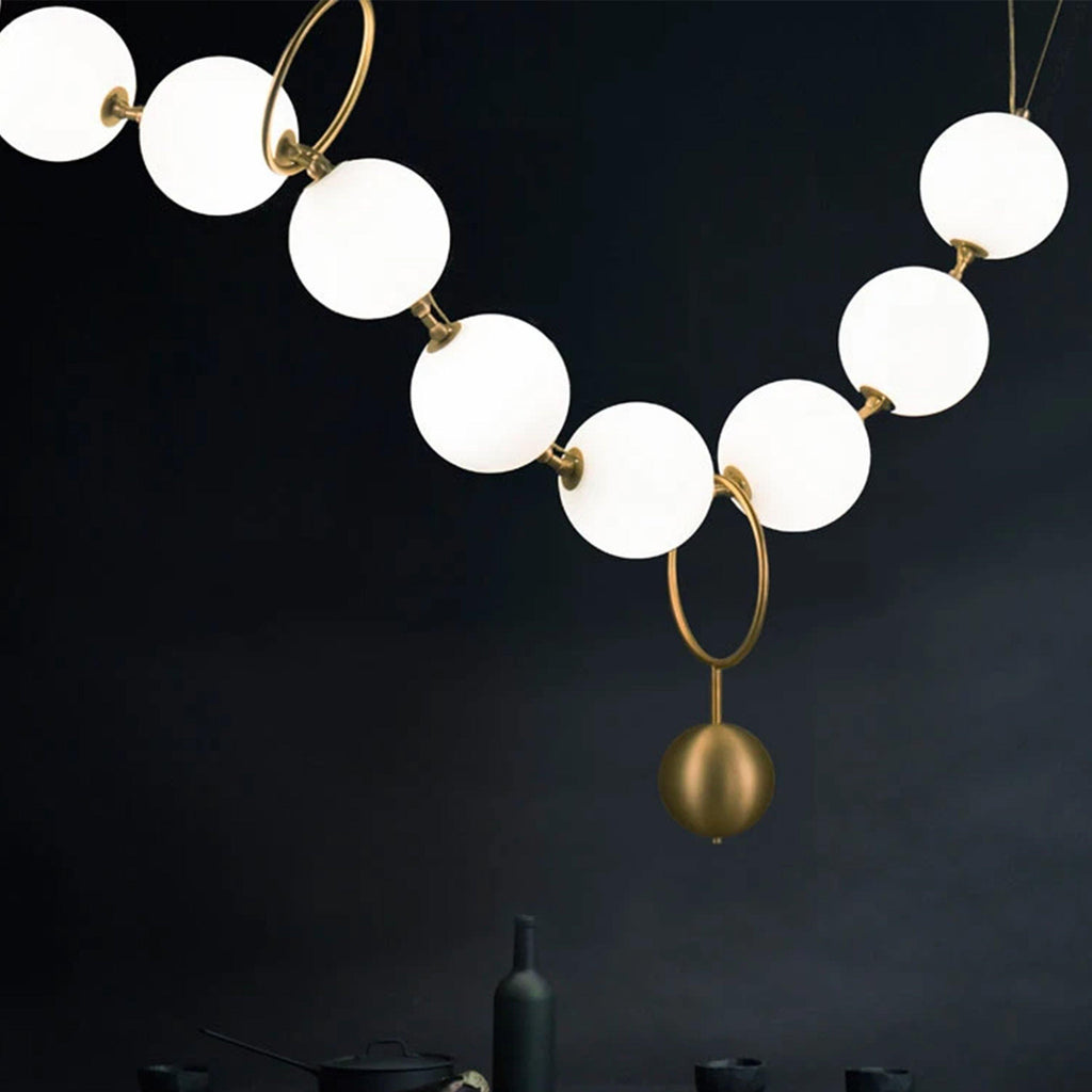 Ankur The String Of Pearls Chandelier - Ankur Lighting