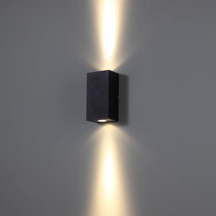 Ankur 2-Way Up/Down Flat Cylinder Outdoor Wall Light